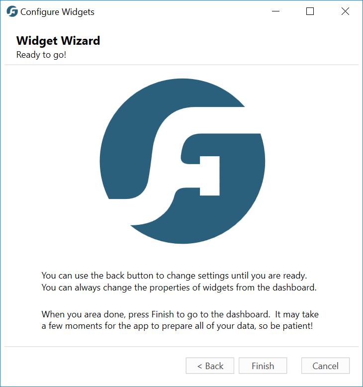 Widget Wizard Complete